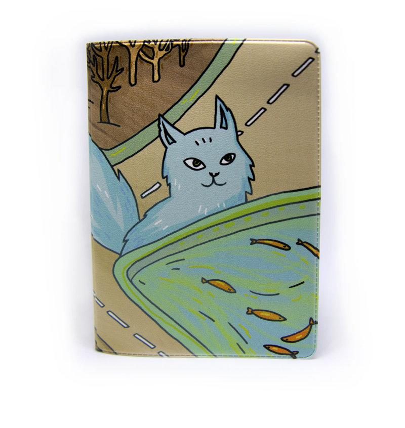"""Обложка для паспорта """"Дорожный кот"""""""