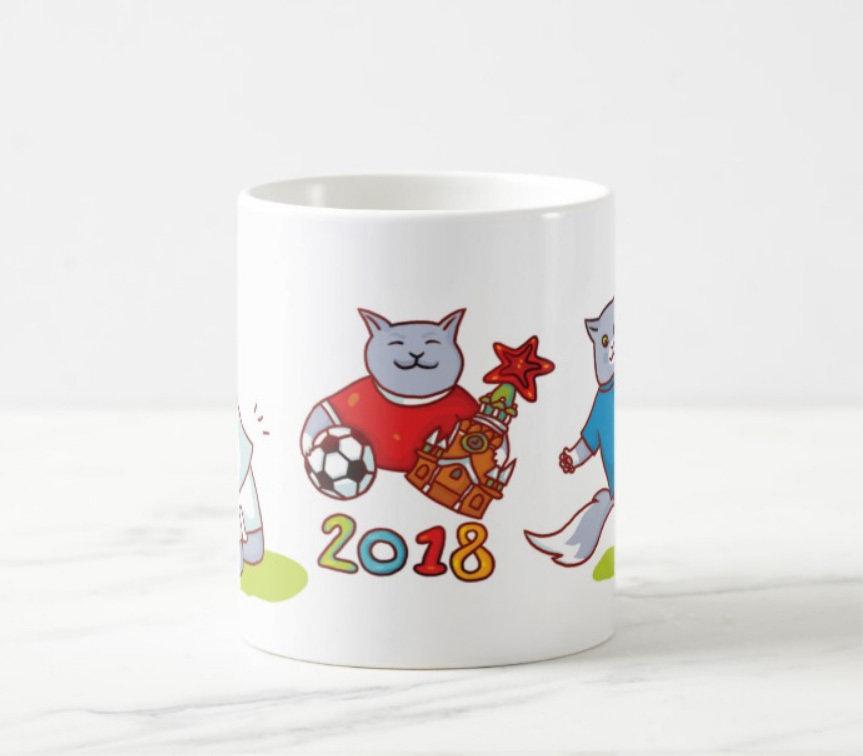 """Кружка """"Футбольные коты"""""""