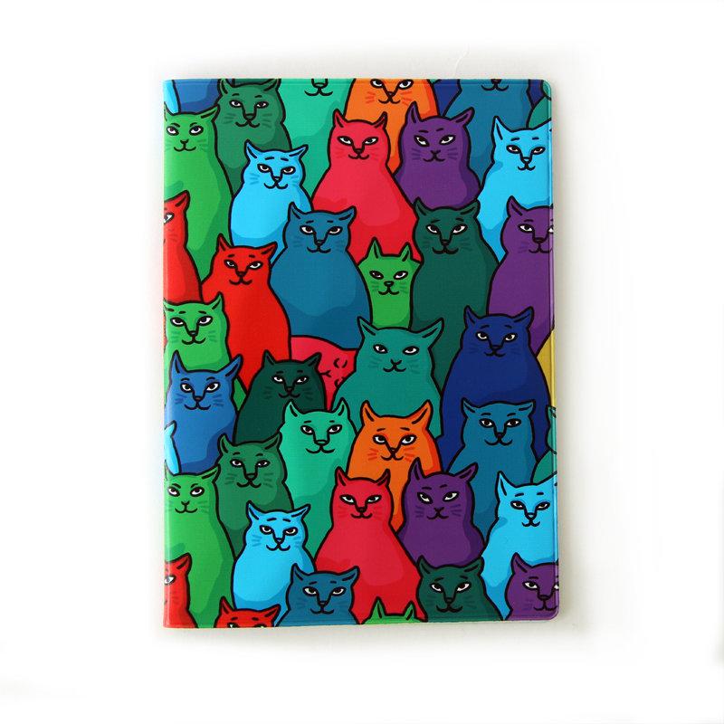 """Обложка для ветеринарного паспорта """"Найди спящего кота"""" 01458"""