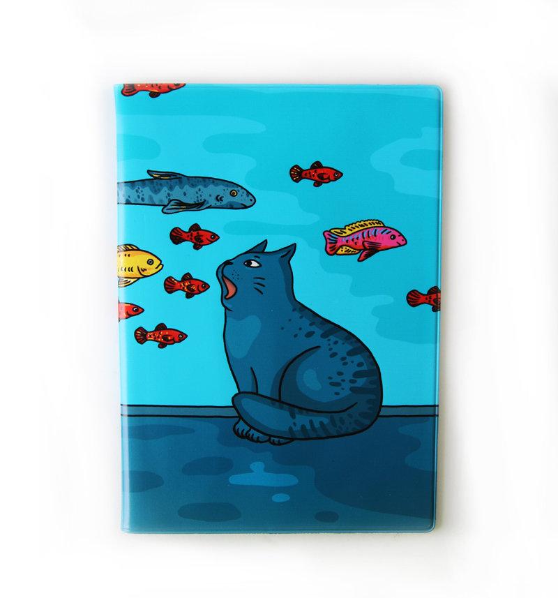 """Обложка для ветеринарного паспорта """"Ловись рыбка"""""""