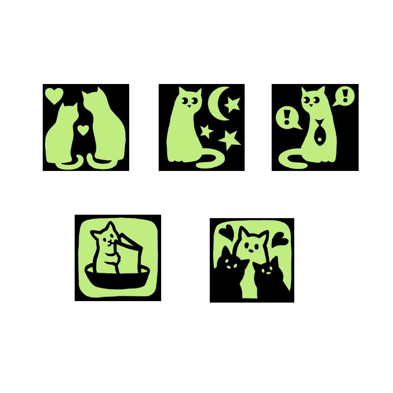 Набор светящихся наклеек на выключатели (5 штук) 01183