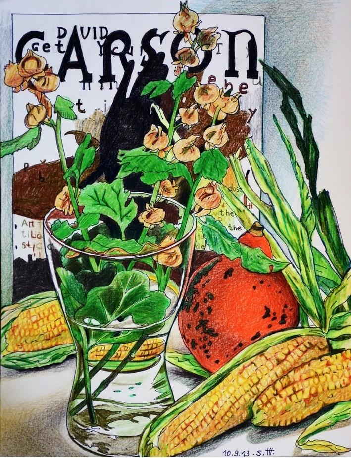 """Репродукция на фотобумаге """"Натюрморт с кукурузой"""""""