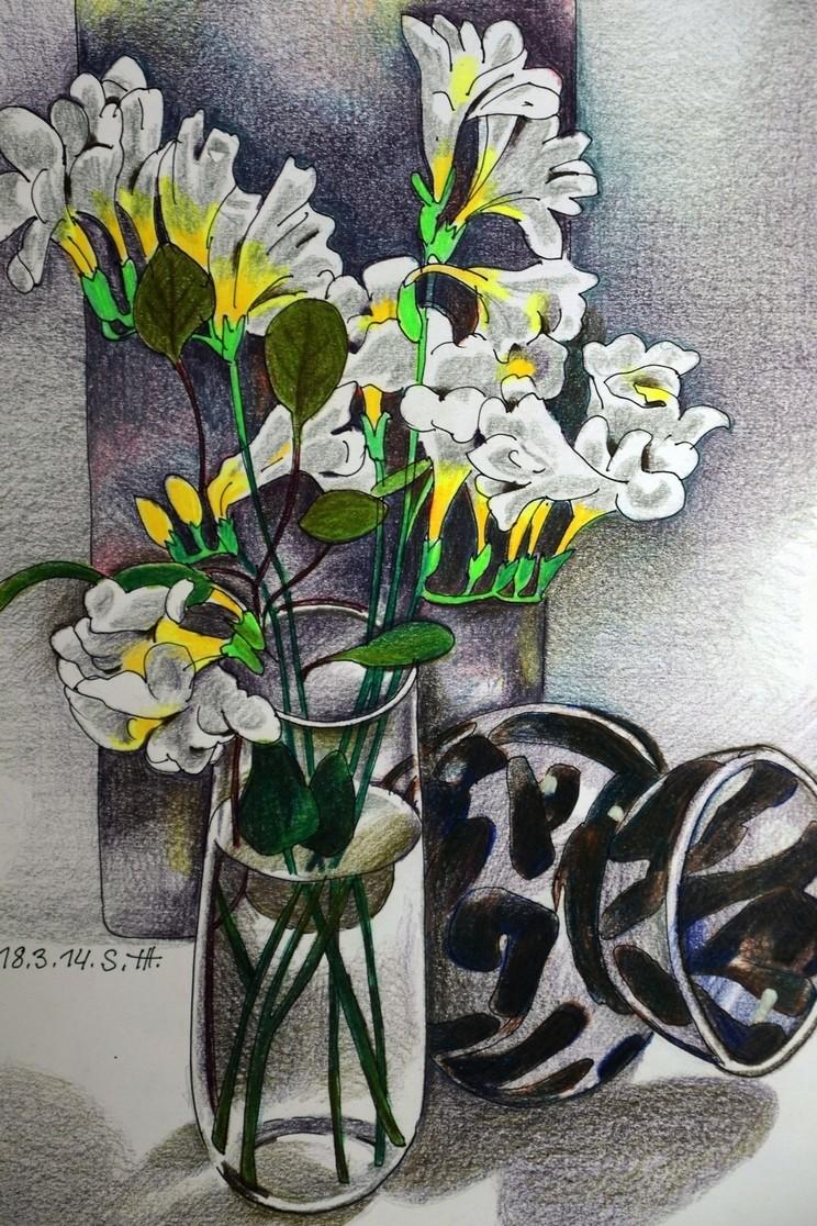 """Репродукция на фотобумаге """"Белые цветы"""""""
