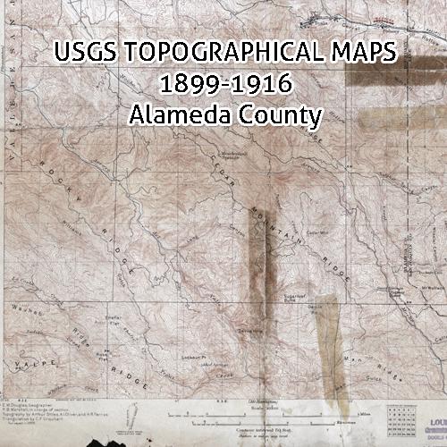 California Topographic Maps 18991916 Alameda County