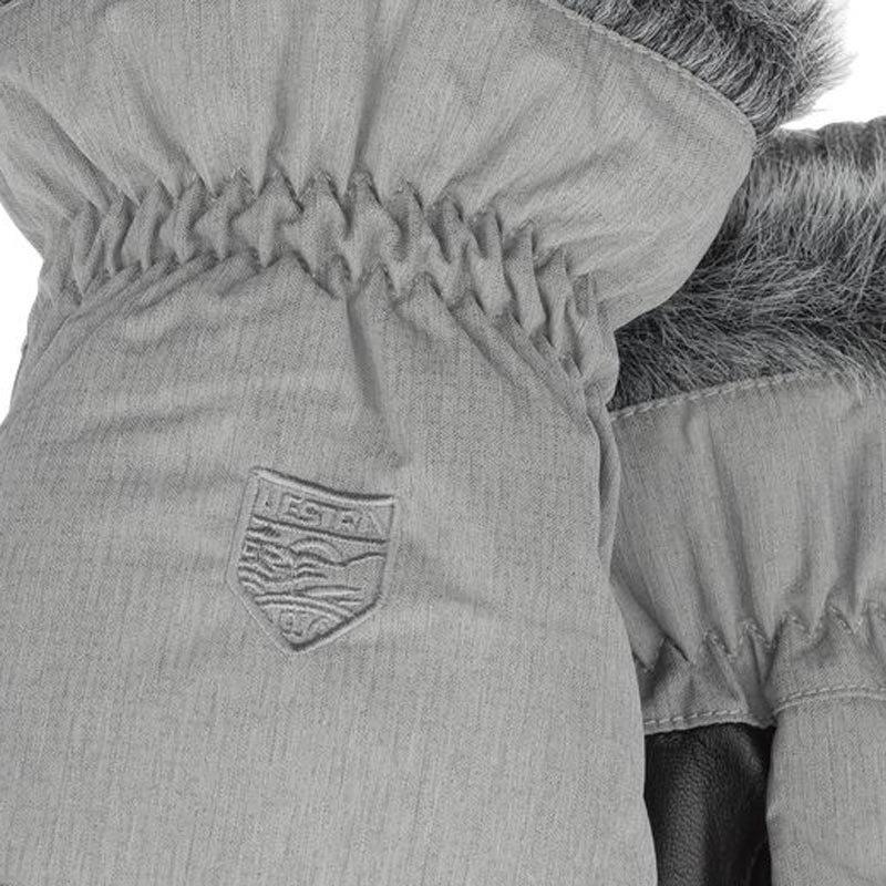 Hestra Womens Primaloft Winter forest grey mitt 8