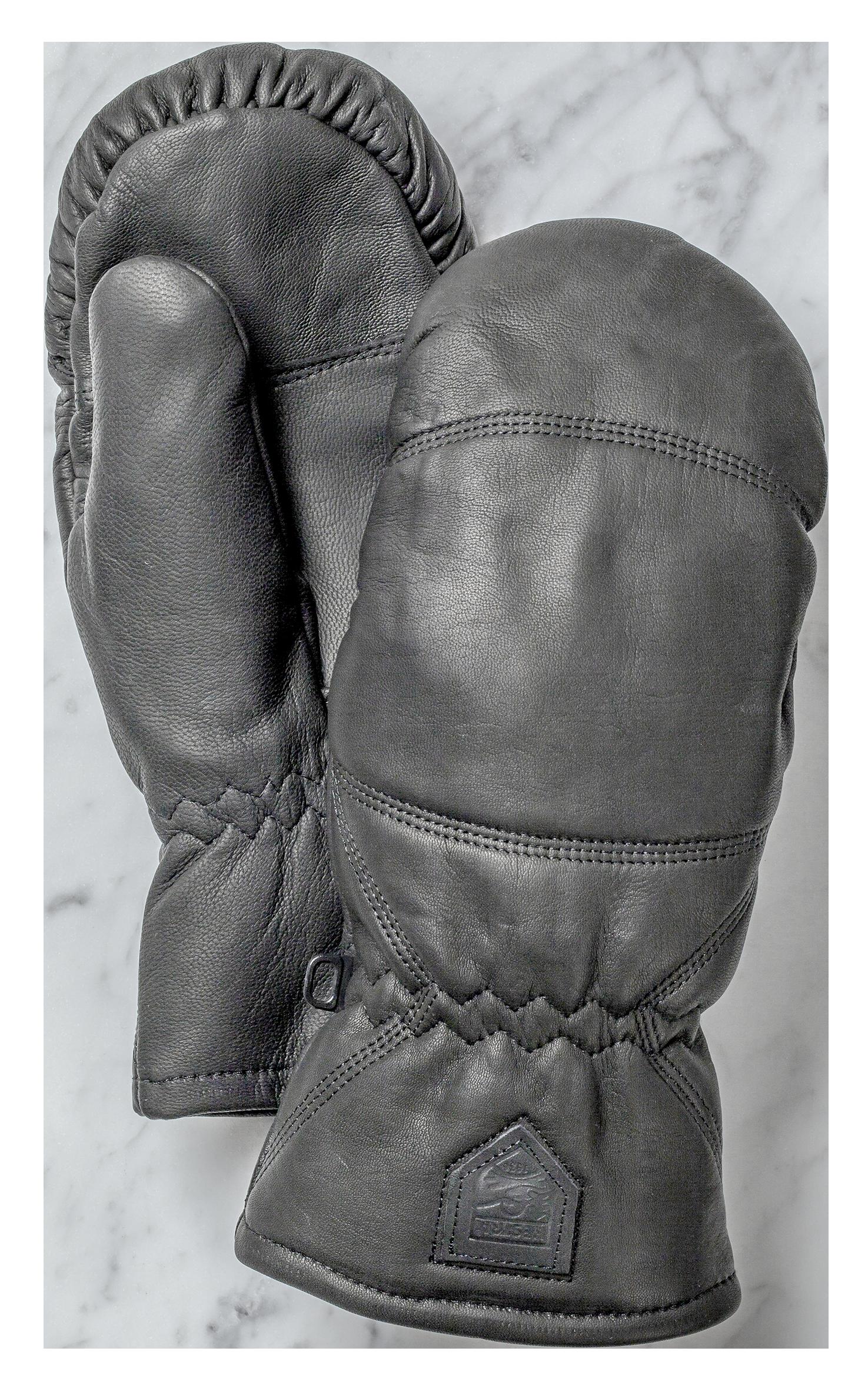 Hestra Leather box mitt Black HES-1023