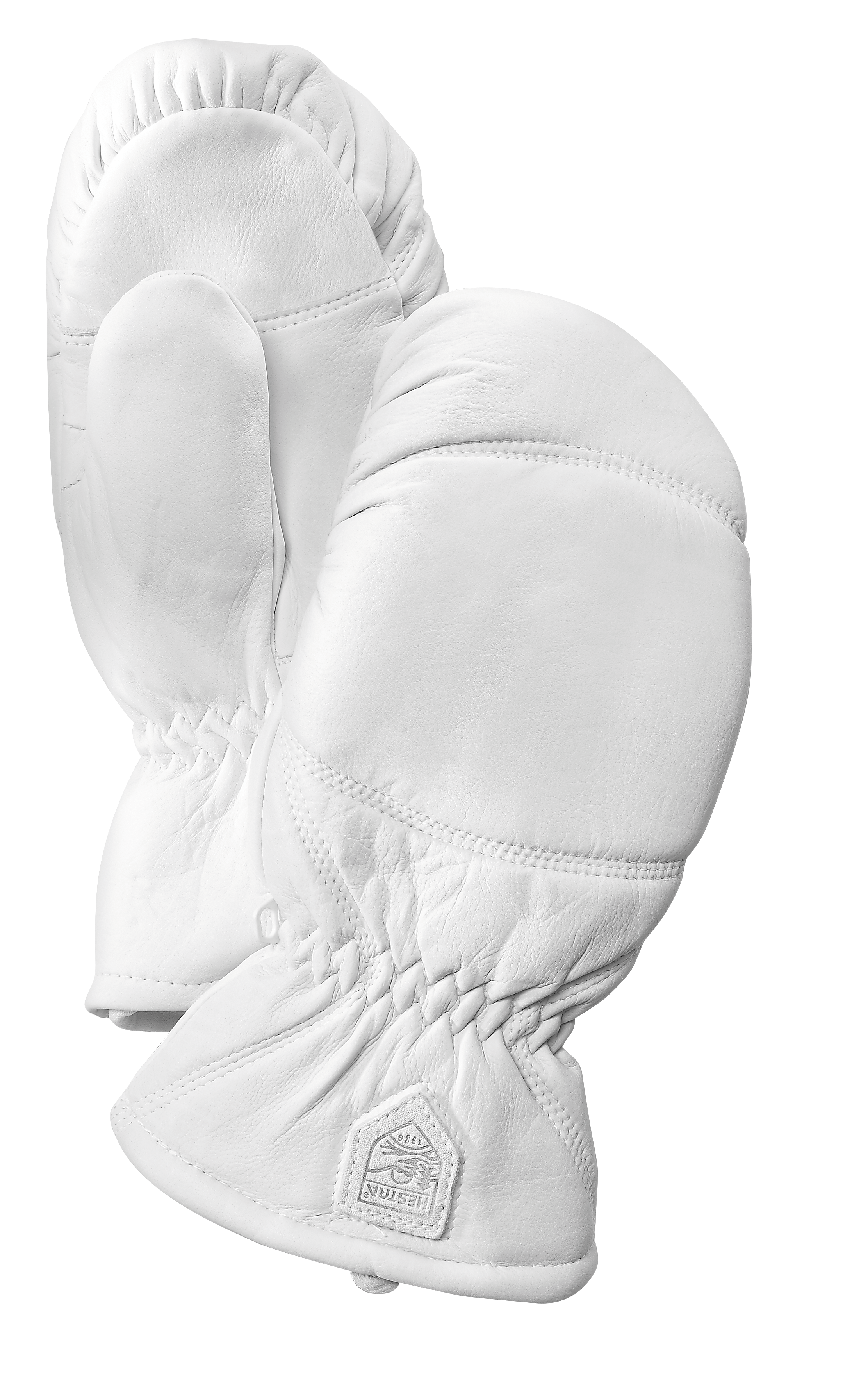 Hestra leather Box mitt White HES-1024
