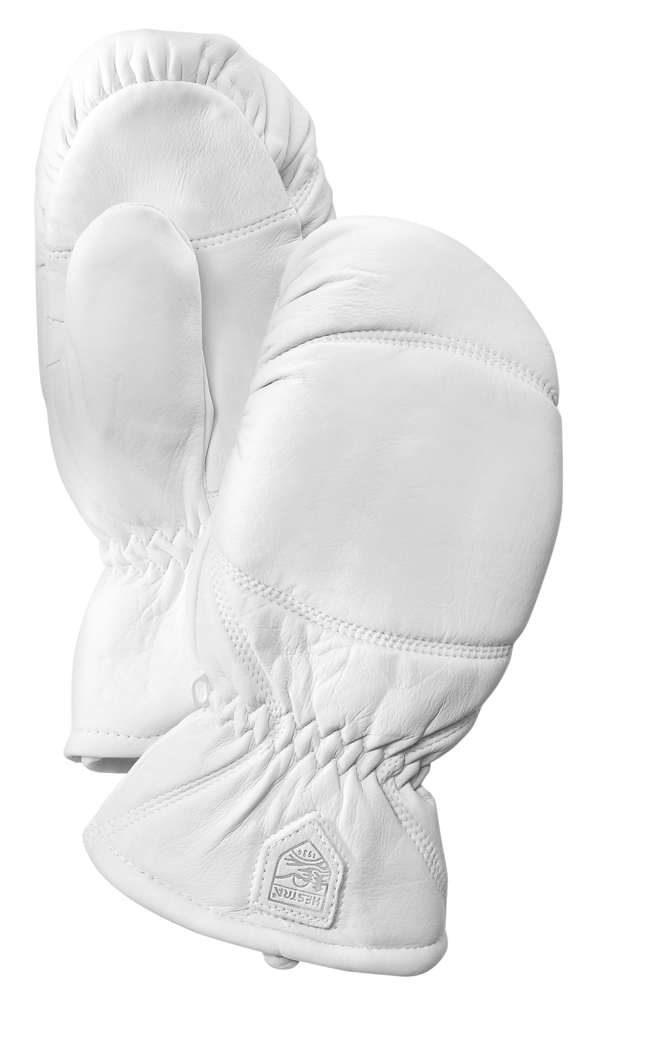 Hestra leather Box mitt White