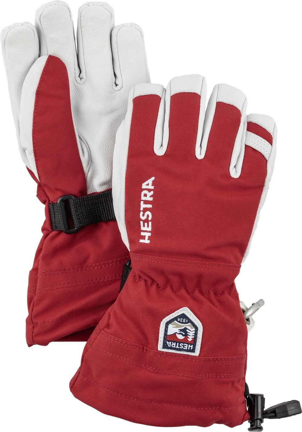 Hestra Army leather heli Jr red HES-1031