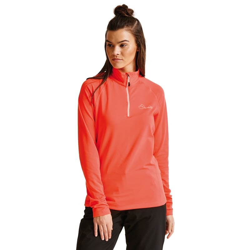 Dare 2b Women's Involve Core Stretch Midlayer Fiery Coral DAR-1045