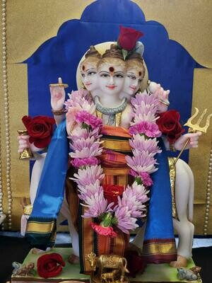Abhishekam for Lord Dattatreya  (@ Temple by Request)
