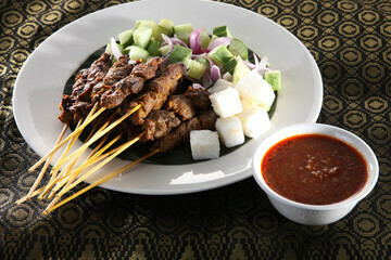Satay with sauce (20 sticks)