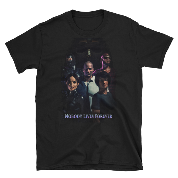 Nobody Lives Forever Poster Short-Sleeve Unisex T-Shirt