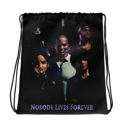 Nobody Lives Forever Drawstring bag