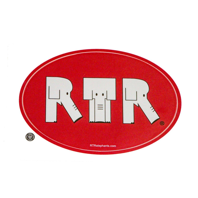 RTR Elephant Bumper Sticker