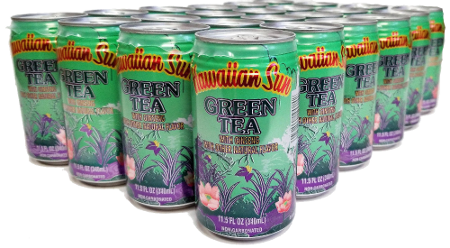 Hawaiian Sun Drink - Green Tea With Ginseng 11.5 oz (Pack of 24)