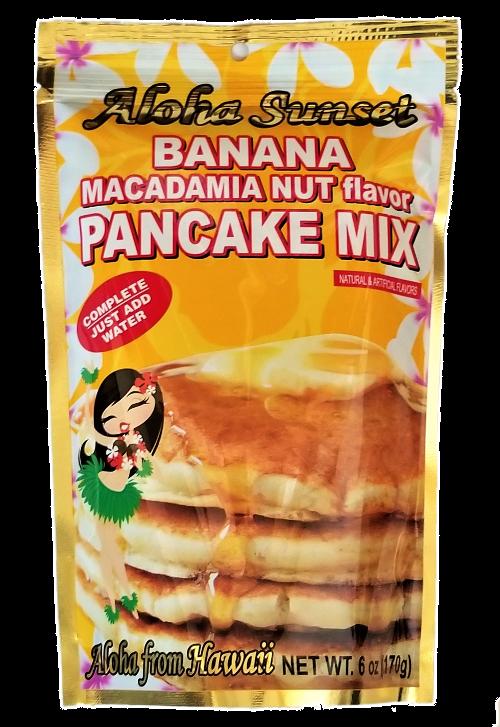 Aloha Sunset Banana Macadamia Nut Flavor Pancake Mix 6oz