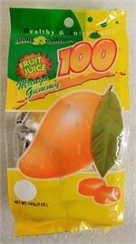 Aloha Gourmet 100 Fruit Juice Mango Gummy 5oz
