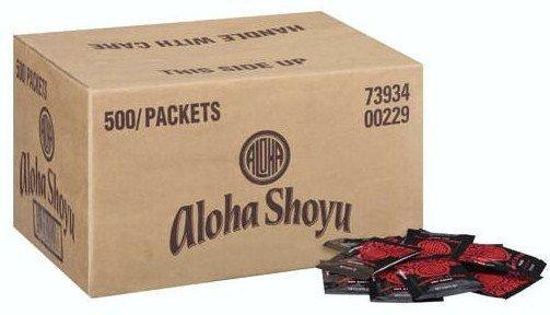 Aloha Original Blend Soy Sauce 500 Packets/0.20 fl oz