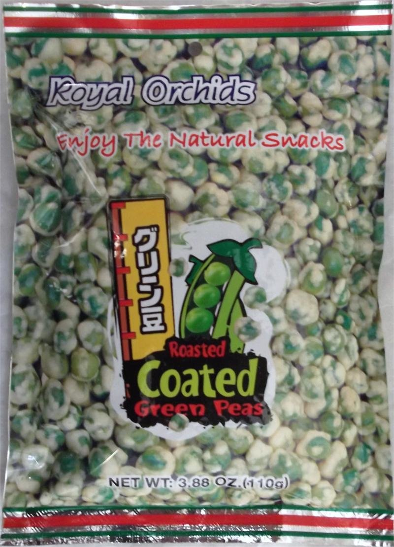 Royal Orchids Roasted Coated Green Peas 3.88 oz