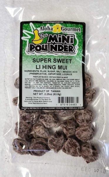 Aloha Gourmet Da Mini Pounder Super Sweet Li Hing Mui 2.25 oz