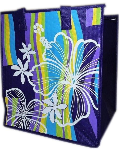 Tropical Paper Garden - Insulated Large Bag - Wayne's World Purple