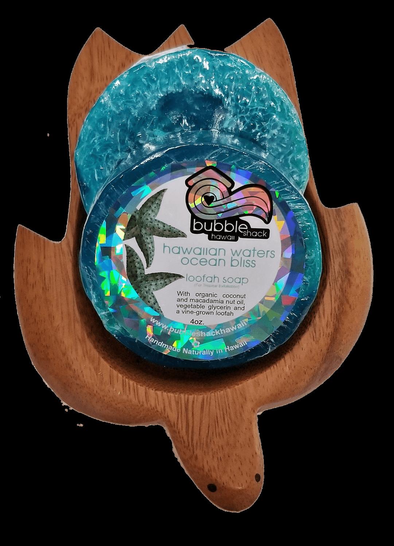 Bubble Shack Loofah Soap - Hawaiian Waters Ocean Bliss