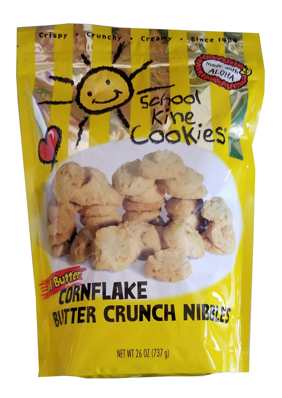 School Kine Cookies Cornflake Butter Crunch Nibbles 24 oz