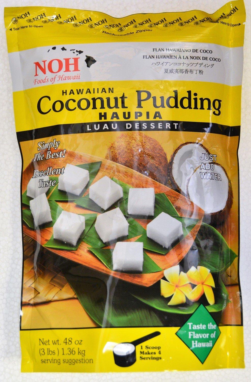 NOH Coconut Pudding Haupia 3 Lb Bulk