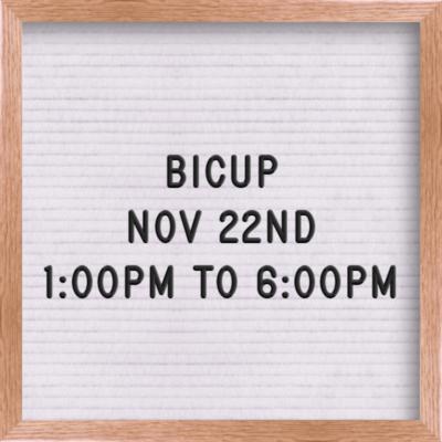 BICUP Nov 22nd 1:00 PM - 6:00 PM
