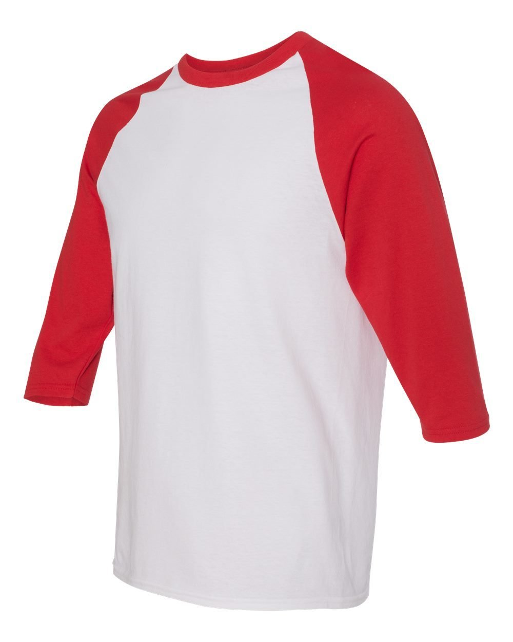 Heavy Cotton Three-Quarter Raglan Sleeve Baseball T-Shirt
