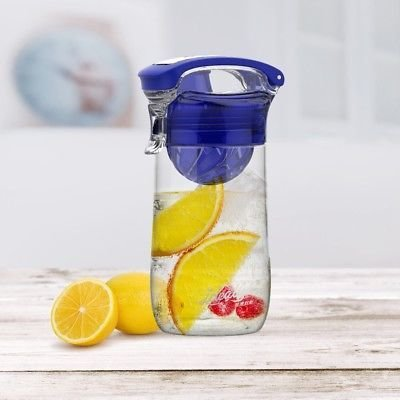 Fruit Infuser Water Bottle With Locking Flip Lid
