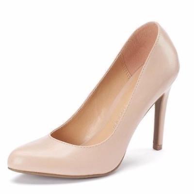 JOHANNA NUDE Pumps Heels Platform Dress Shoes New