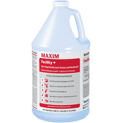 MAXIM Facility+ One Step Concentrated Disinfectant Cleaner and Deodorant (Gallon) by Midlab