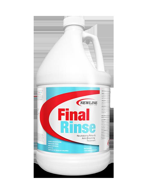 Final Rinse (Gallon) by Newline | Carpet Neutralizing Rinse & Anti-Browning Treatment NI-FR