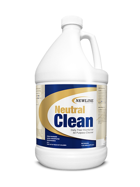 Neutral Clean (Gallon) by Newline   Concentrated Neutral Hard Surface Cleaner NI-NC