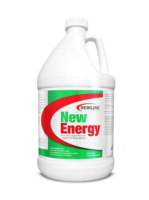 New Energy (Gallon) by Newline | Solvent Booster and Olefin Carpet Cleaner NI-NE