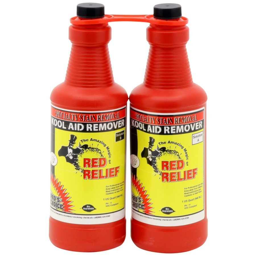 Red Relief (Parts A&B Quart Set) by CTI Pro's Choice | Specialty Stain Remover