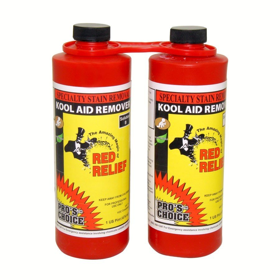 Red Relief (Parts A&B Pint Set) by CTI Pro's Choice | Specialty Stain Remover