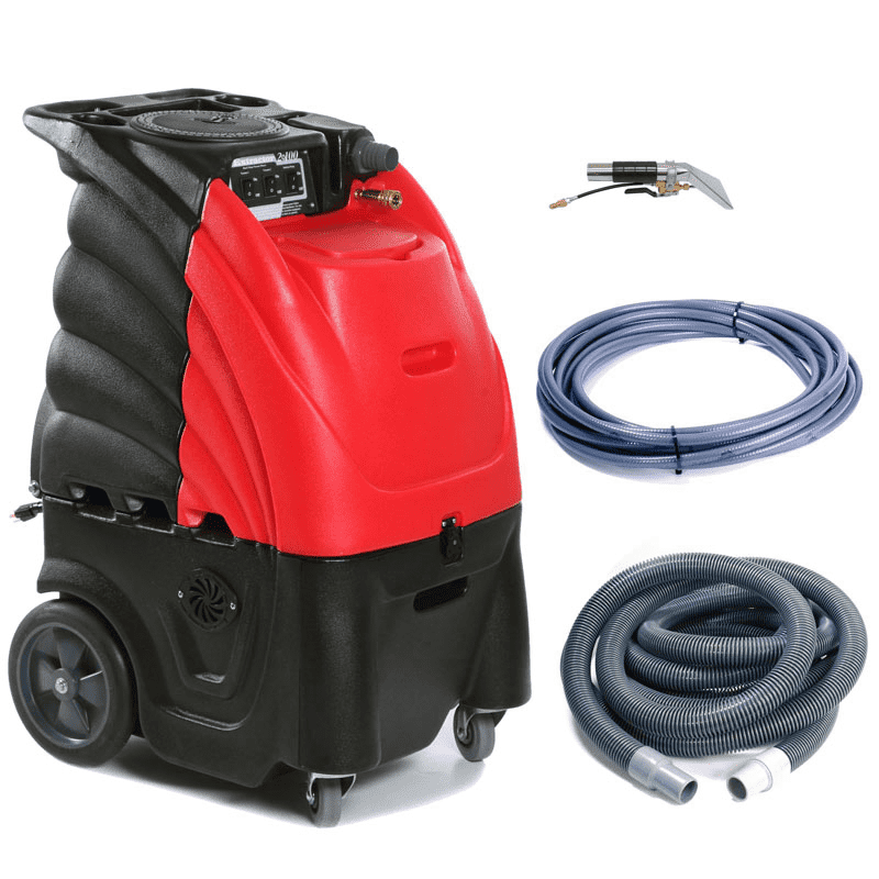 12 Gallon Indy 100 w/ Heat-includes hoses and 4' Stainless Steel Upholstery Tool (Red) SAN-804000H