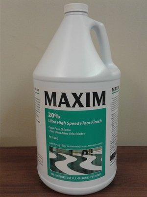 MAXIM 20% Ultra High Speed Floor Finish (Gallon) by MidLab | VCT Wax