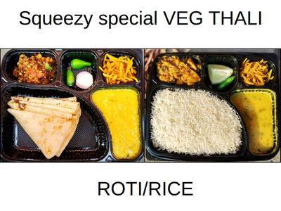 Veg thali (Roti/Rice)