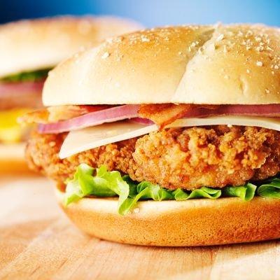 Cheese-Chicken Burger