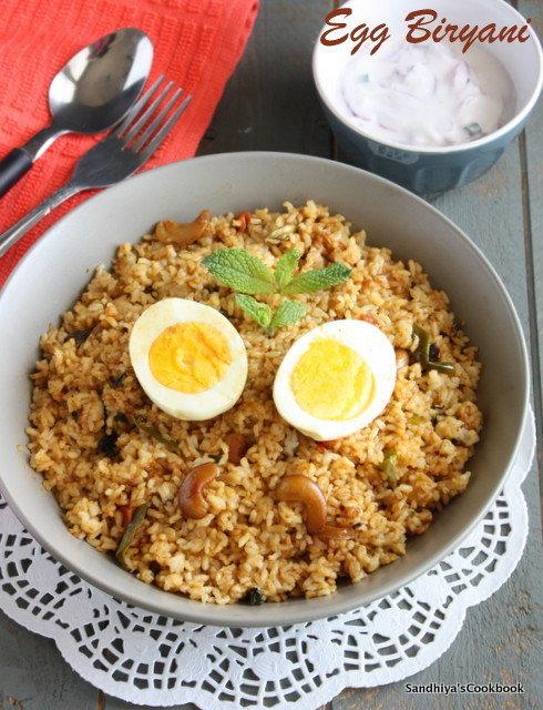 Egg biryani- 1 egg