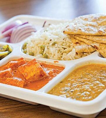 Paneer Thali (Roti/Rice)