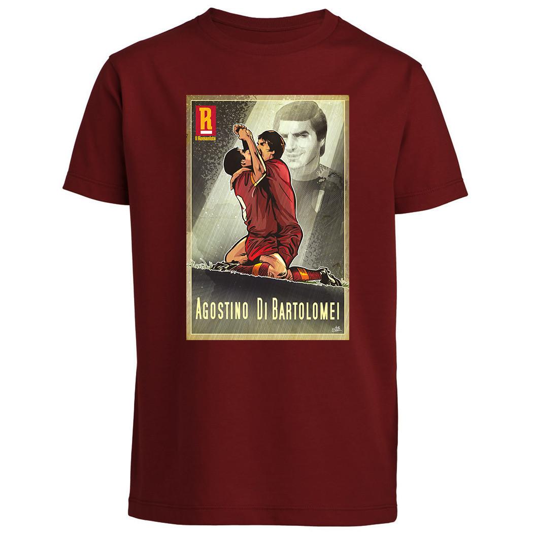 """T-shirt Agostino Di Bartolomei - Baby - """"Il Romanista"""""""