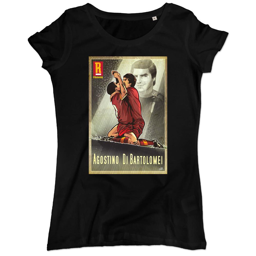 """T-shirt Agostino Di Bartolomei - Donna - """"Il Romanista"""""""