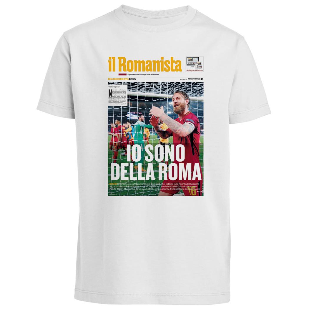 """T-shirt """"Io sono della Roma"""", Roma-Barcellona Champions League - Baby - Il Romanista"""