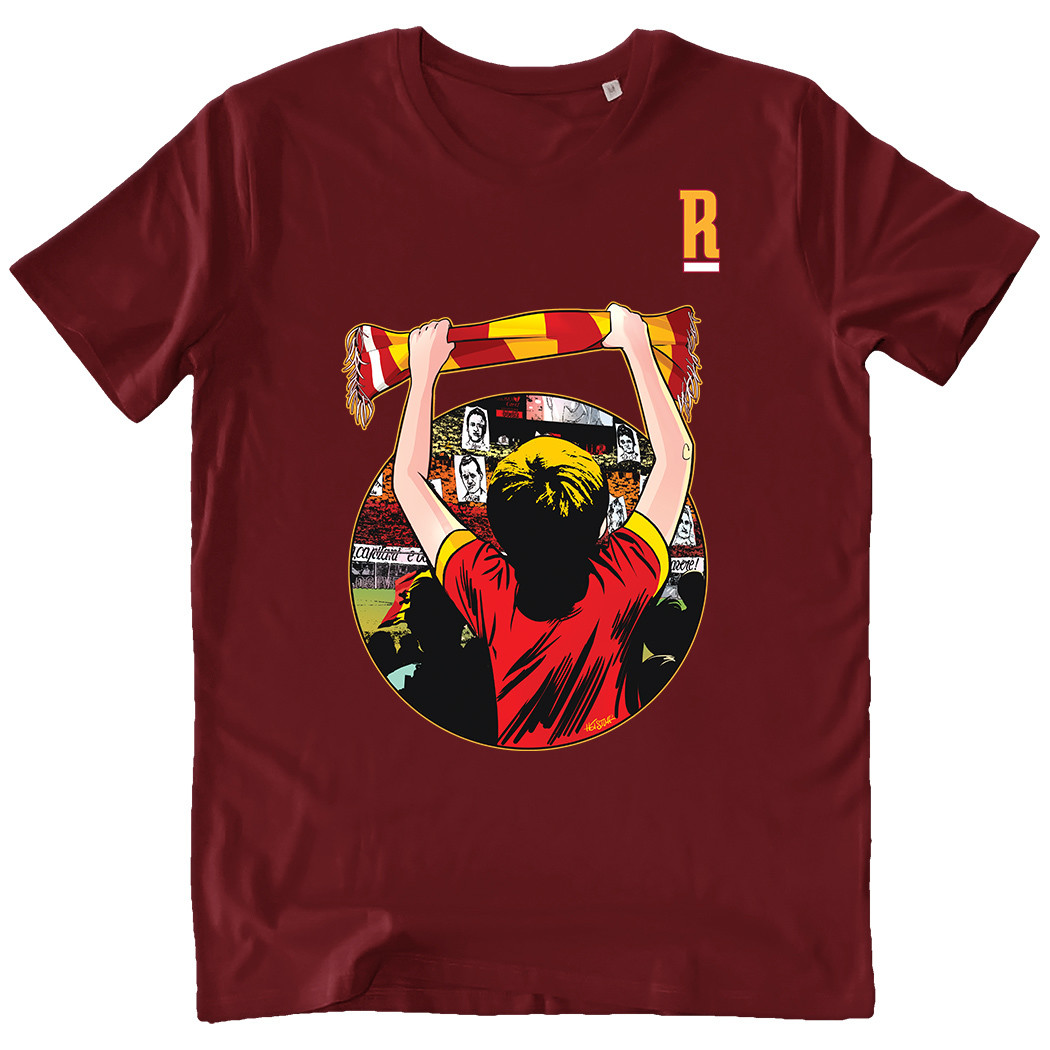 """T-shirt """"Un amore infinito"""" - Uomo - """"Il Romanista"""""""