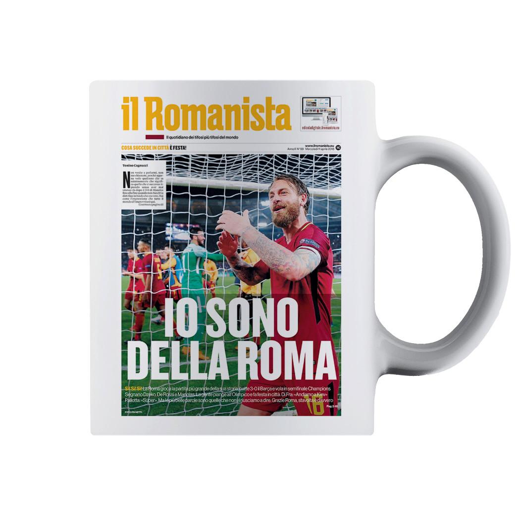 """Tazza """"Io sono della Roma"""", Roma-Barcellona Champions League - Il Romanista"""